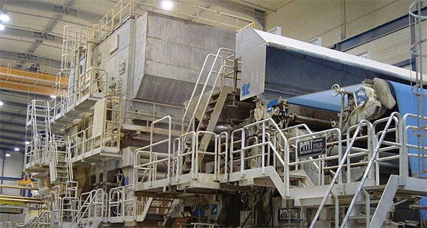 One of the company's paper machines