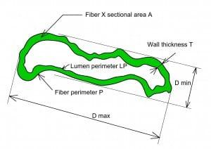 图表3a: 纤维的尺寸
