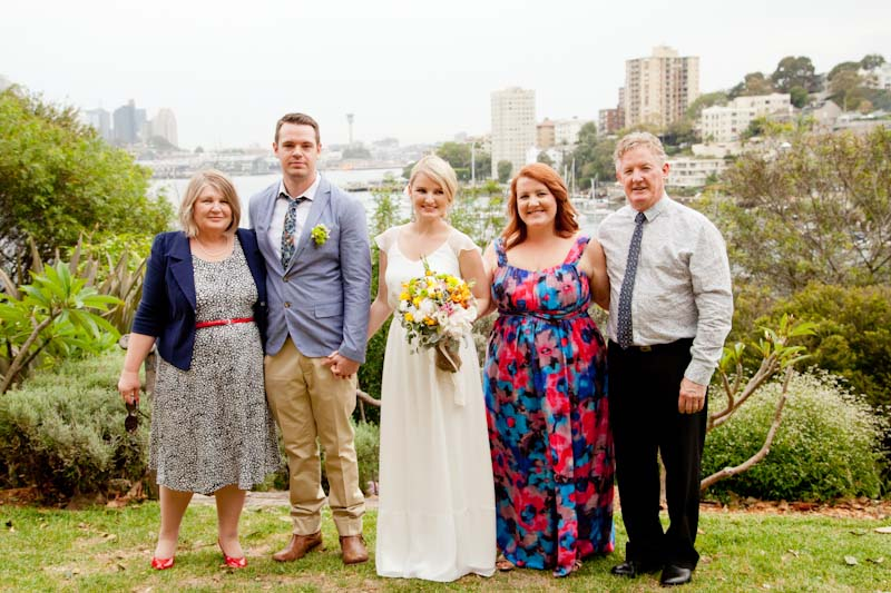 Phillip Lawrence, right, and his wife Jenny, far left, with daughters, Sarah and Emily Park with her husband Graham