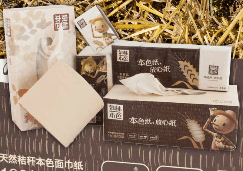 An example of Chinese unbleached non-wood tissue products