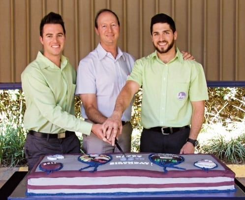 Members of the four generations of the Sher family from left to right: David, Barry and Jonathan
