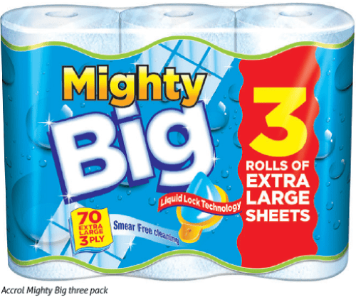 Accrol Mighty Big three pack