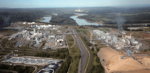Canfor Pulp's three kraft mills located outside Prince George, British Columbia, Canada, have a combined production capacity of over 1,000,000MT of kraft pulp per annum.