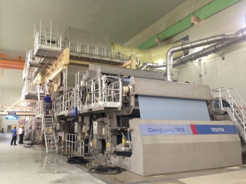 Cheng Loong's TM16 tissue machine has an operating speed of up to 2,001m/min, which supplier Voith said is the fastest machine speed with a steam hood in the world.