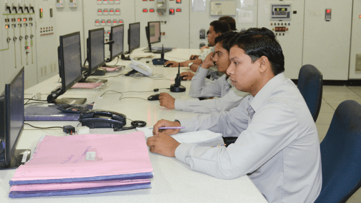 Orient Paper staff at its DCS room