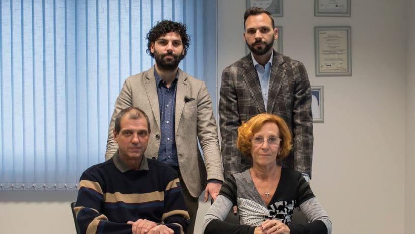Clockwise from top left: Emanuele Del Ministro, Simone Del Ministro, Attilia Veroni and Bruno Del Ministro