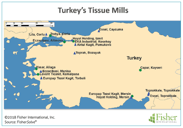 Figure 1: Turkey's tissue mills