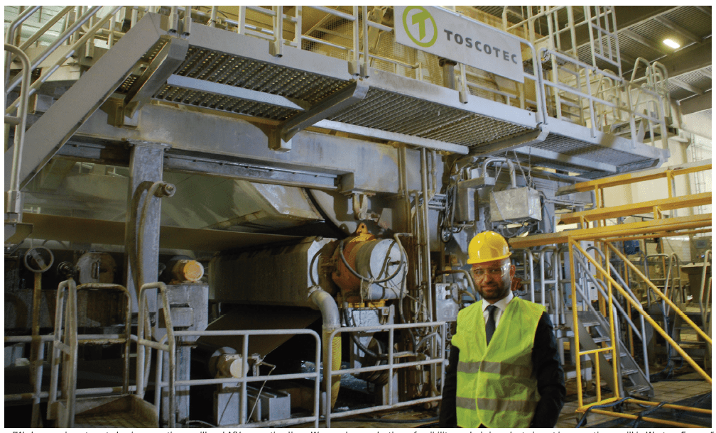 """""""We have an investment plan in a new tissue mill and AfH converting lines. We are also conducting a feasibility analysis in order to invest in a new tissue mill in Western Europe,"""" - Fatih Çapar"""