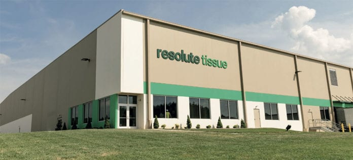 High efficiencies: Resolute Tissue's new distribution centre in Tennessee